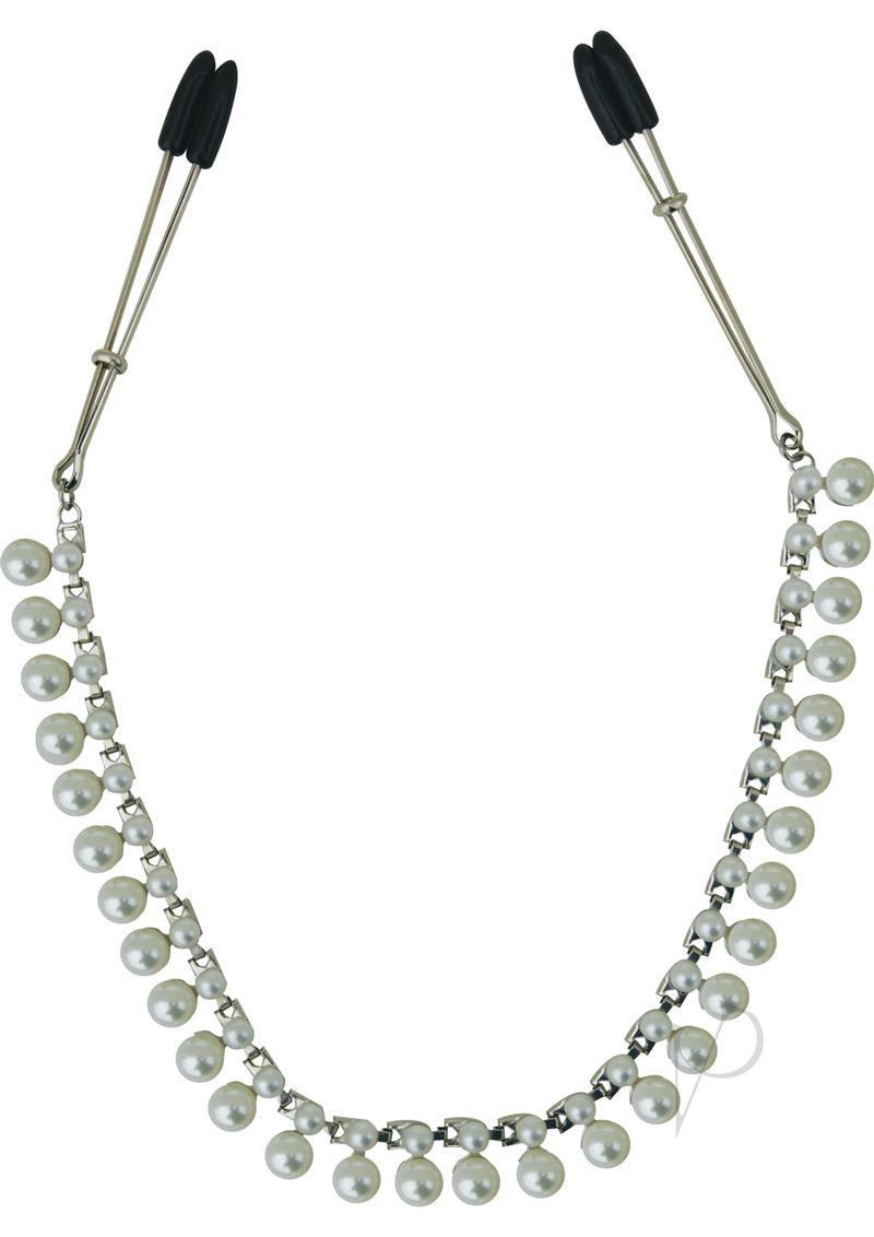 Midnight Pearl Chain Nipple Clips 20 Inch