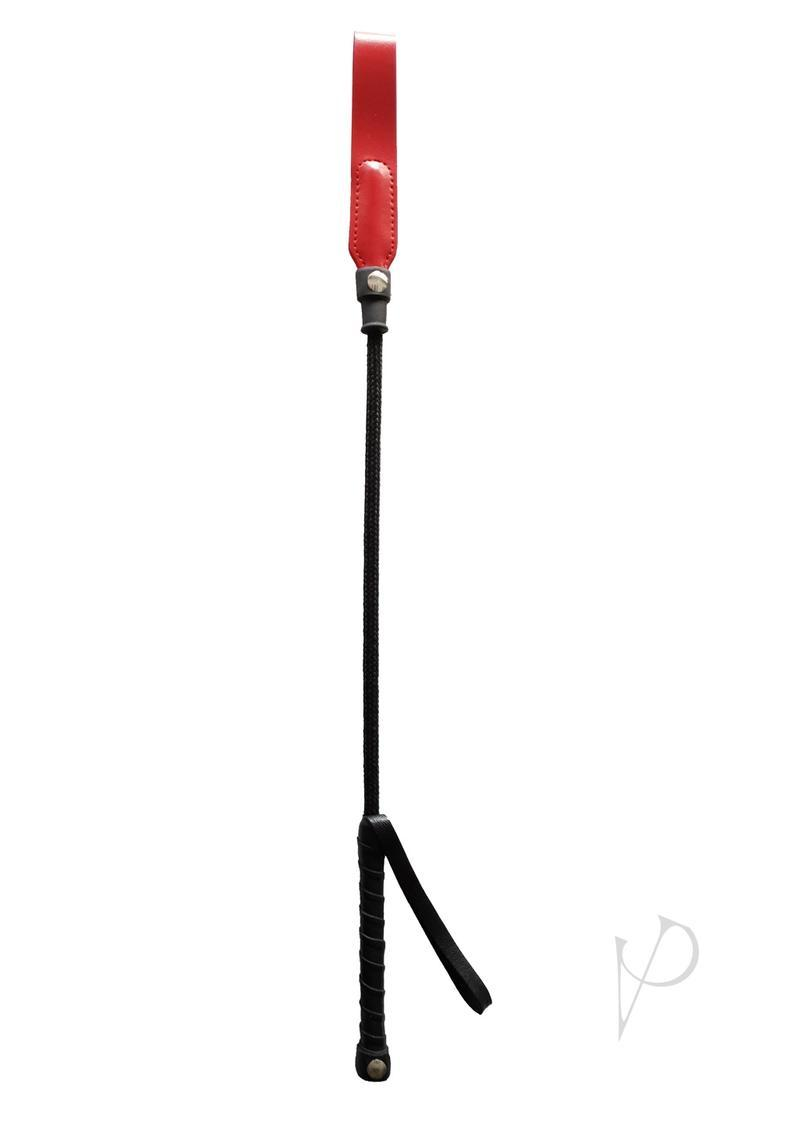 Rouge Short Riding Crop Slim Tip 20 Whip Bondage And Fetish Red
