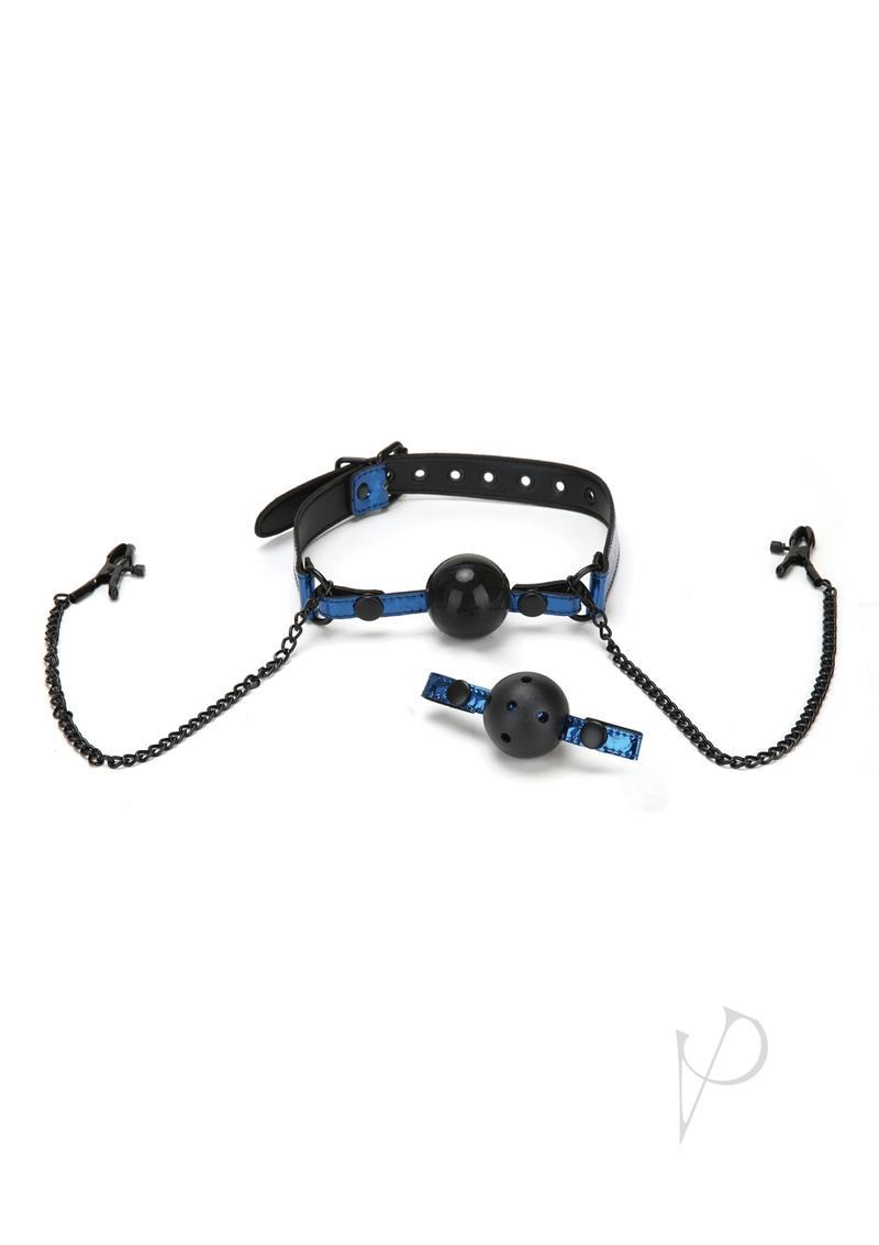 Whip Smart Diamond  Gag/nipple Clips Blu